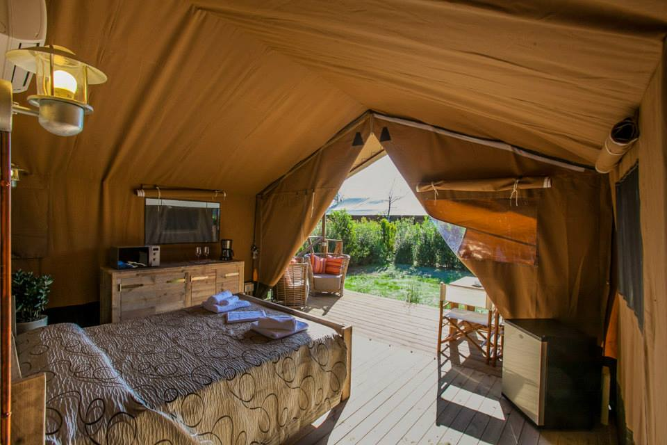 Glamping, The african tend near the sea at the Capalbio Camping, Grosseto, Tuscany