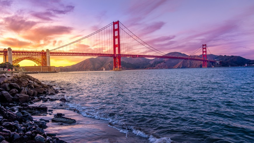 San Francisco e il Golden Gate Bridge, uno dei simboli della California