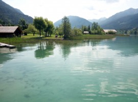 Shades of blue in the Lake of weissensee