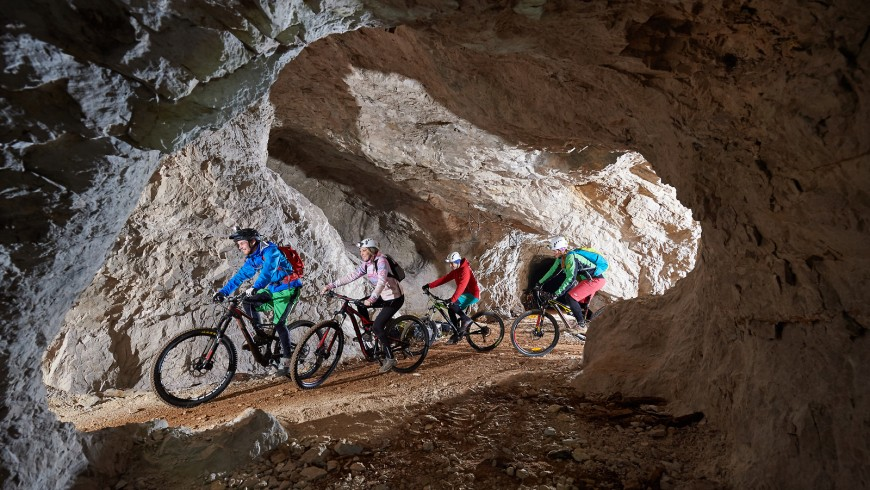 mountain bike sotteraneo in slovenia