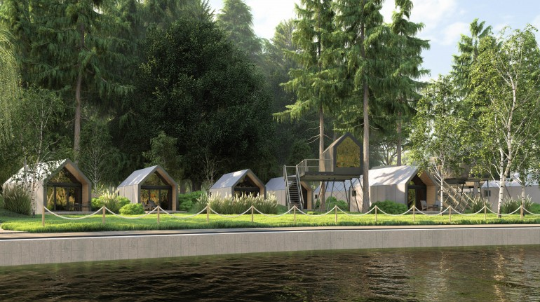Chocolate village by the river, glamping ecologico in Slovenia