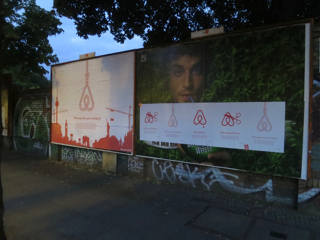 Protest against Airbnb in Berlin