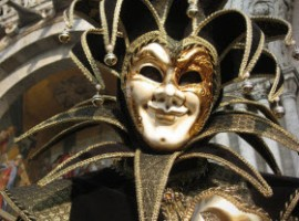 Black Clown Mask at St Mark's Square Carnival of Venice by Blublubble via Flickr