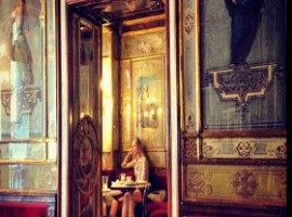 Caffè Florian historical coffee bar in Venice  by Maria Rosa Sannino via Flickr