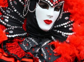 Mask at Venice Carnival 2010 by F Kovalchek via Flickr