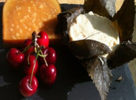 Pecorino cheese and fruit by Molly via Flickr