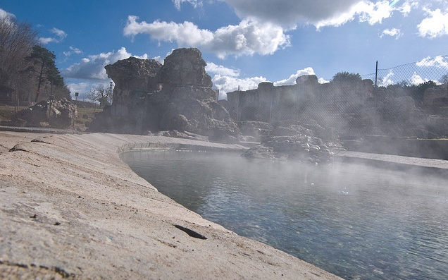 Natural hot springs in Fordongianus, Sardinia