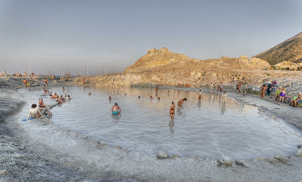 Natural hot springs of Vulcano, Sicily