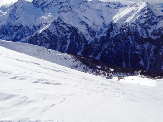 A natural slope from Pragelato Natural Terrain