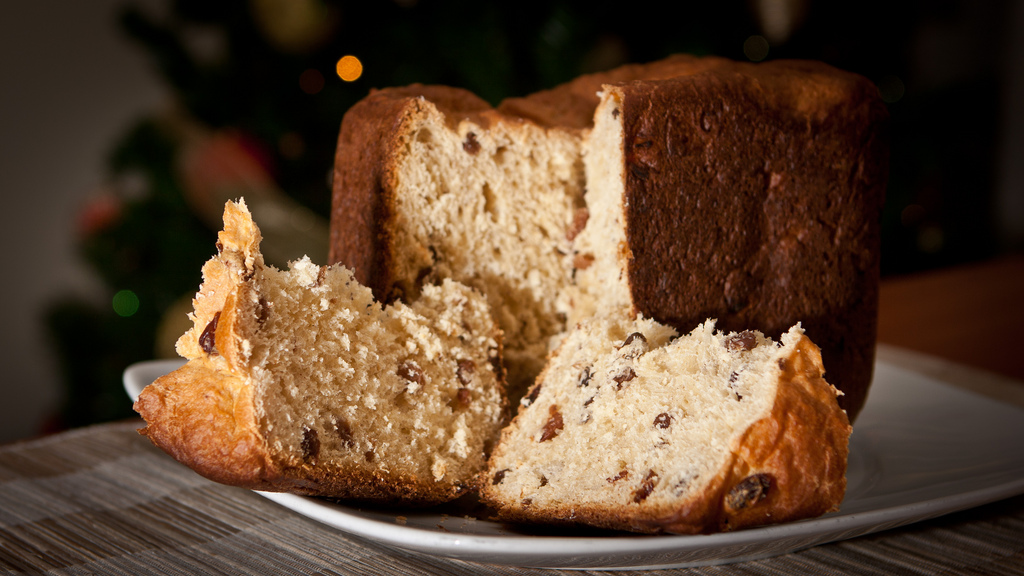 panettone, tipical christmas cake in Italy