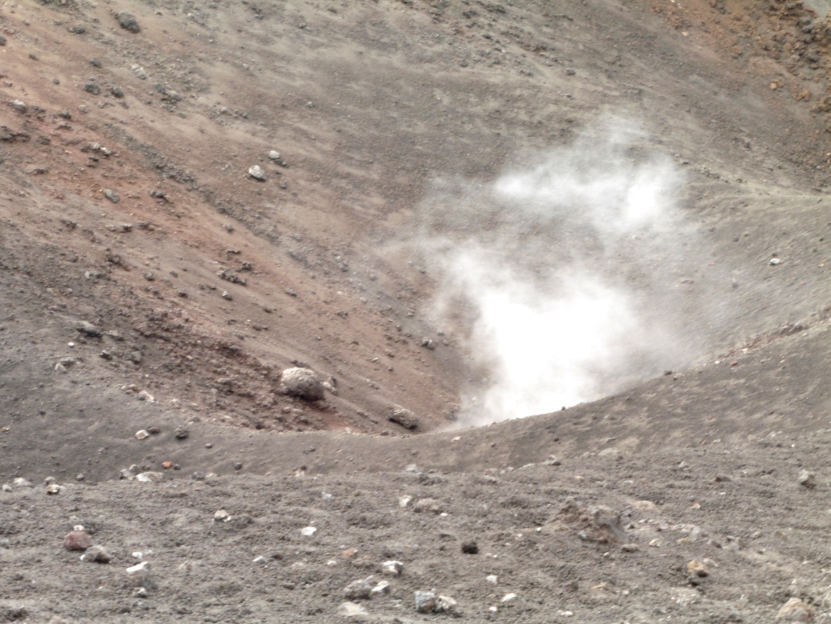 Smoke from the crater of Etna
