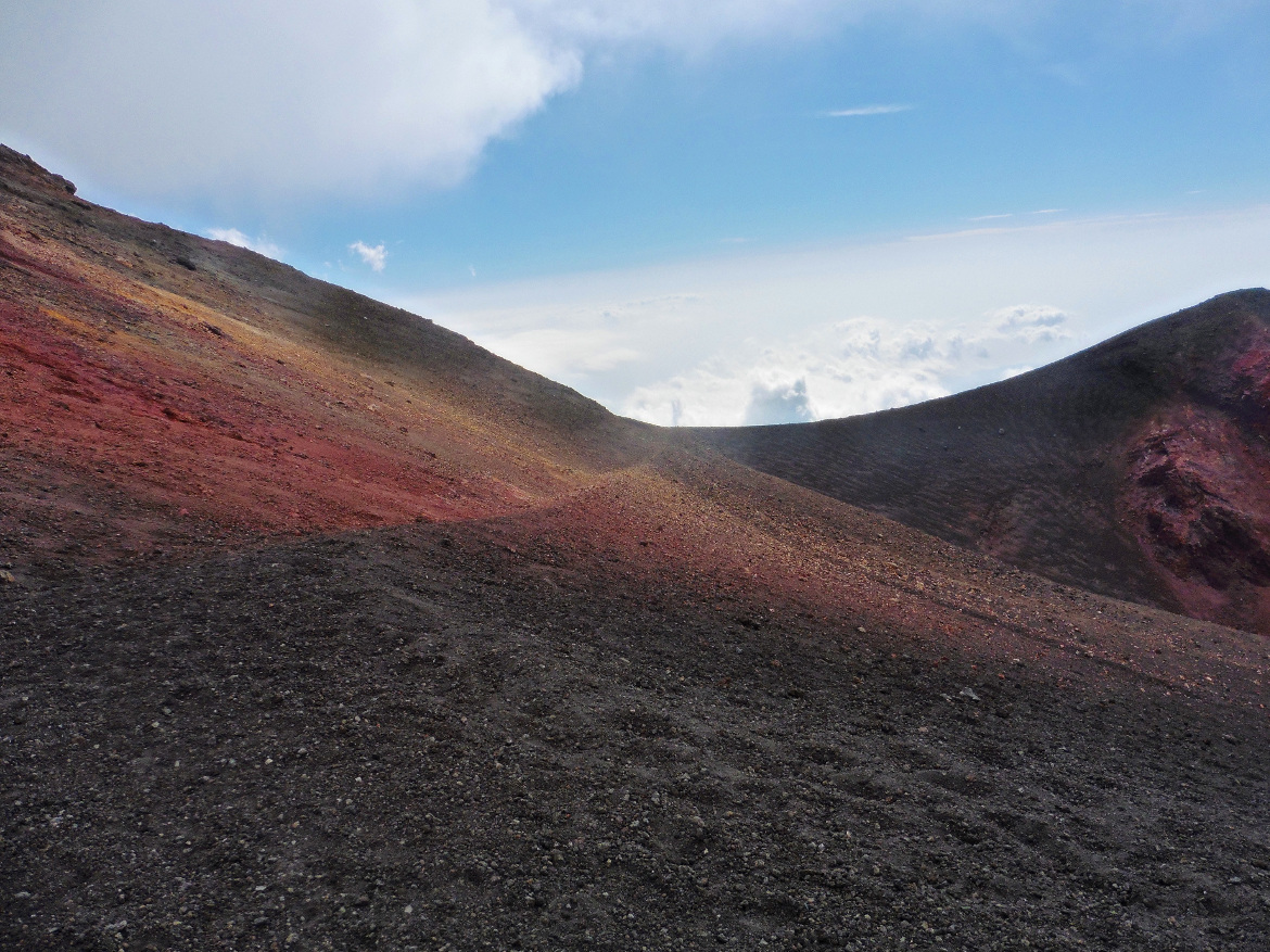 Amazing colors of the Etna volcano,