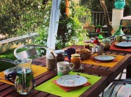 Breakfast at DianoGreen, Liguria, Italy