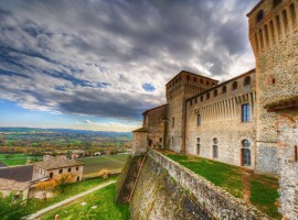 Torrechiara Castle, near the Corte of Woodly B&B, Lesignano, Parma, Italy