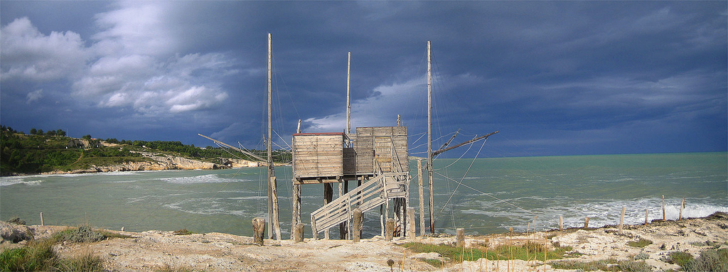 Trabucco in the Gargano National Park, South Italy