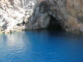 a sea grotto on the island of Vulcano (archipelago of Eolie)