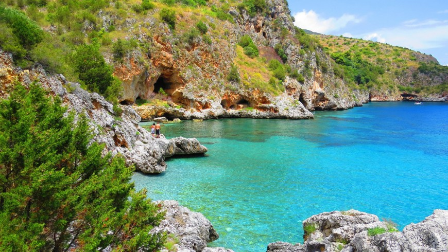 Beach Infreschi, Cilento Coast, South Italy