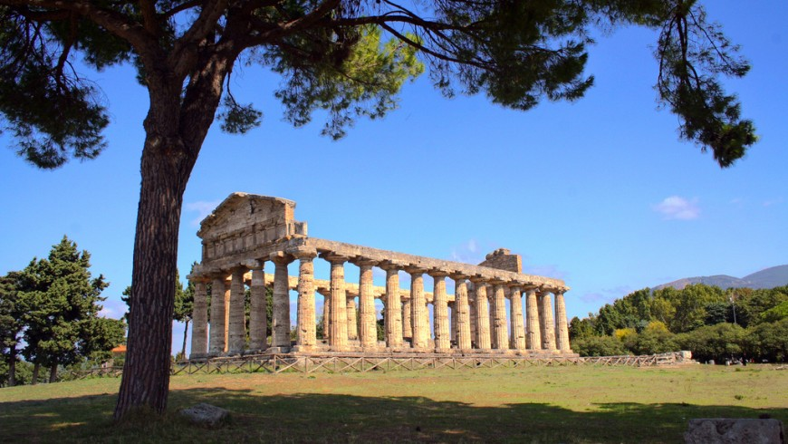 Temple of Hera at Paestum, in the Cilento area