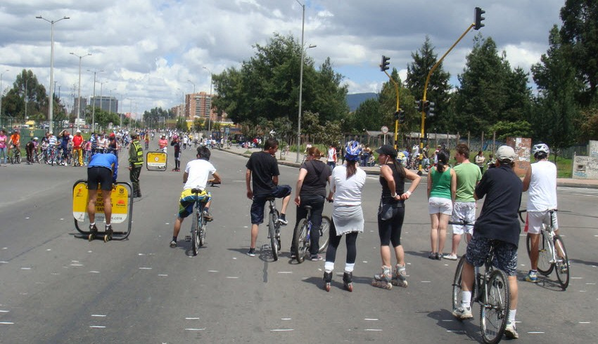 The cycleway in Bogotà