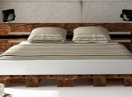 Bed made of pallets