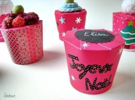Gift package made with paper cups