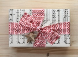 gift package with sheet music