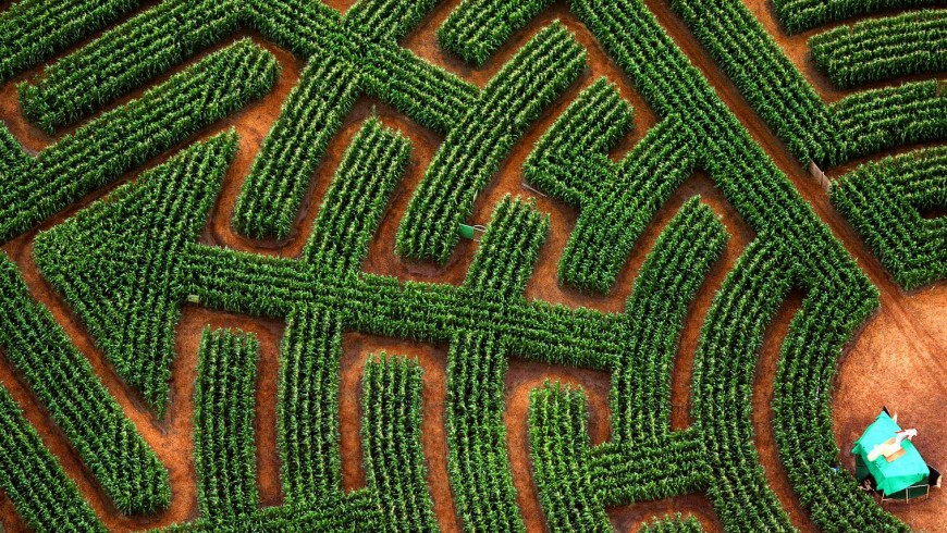 One of the most beautiful labyrinths in France