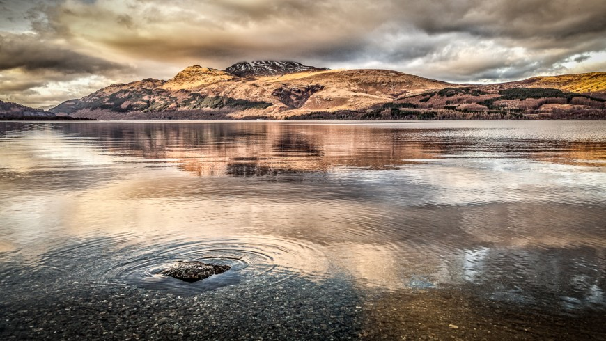 Loch Lomond in Scotland is one of the most beautiful lakes in Europe