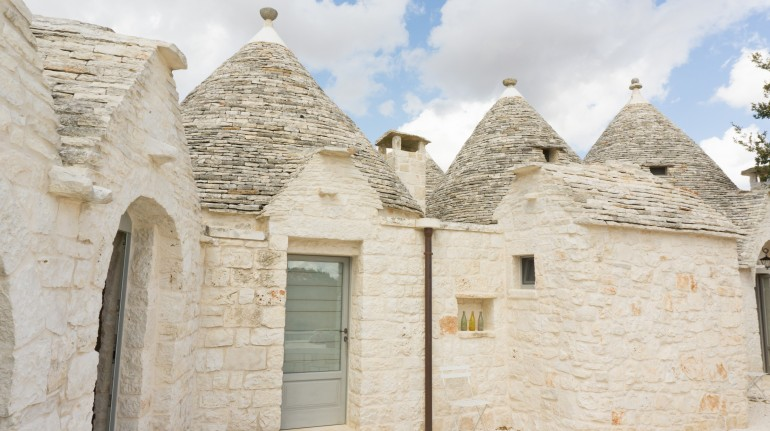 A town of Apulian trulli, unusual accommodations