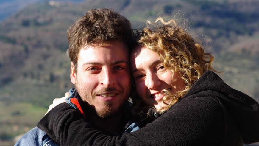 Elisabetta and Samuele, two young people who return to agriculture