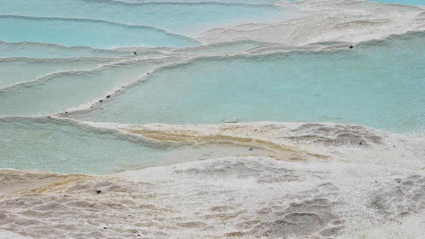 Pammukkale, Turkey, one of the most beautiful hot springs of the world