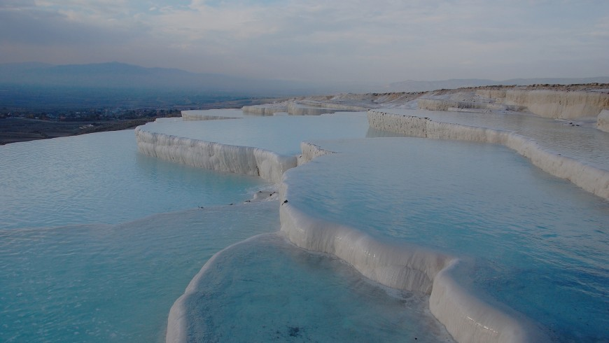 Pamukkale, Turkey, among the most beautiful natural pools of Europe