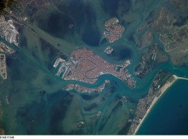 Venice and its lagoon from the space