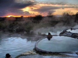 Carletti pools, hots springs of Viterbo, Italy