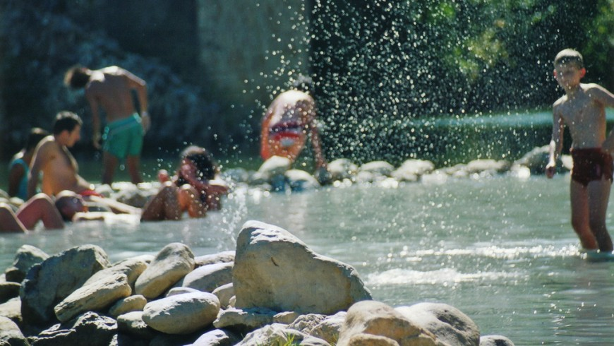 The natural hot springs of Petriolo, Italy