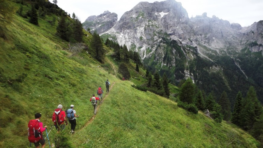 Hiking in the Belluno Dolomites National Park