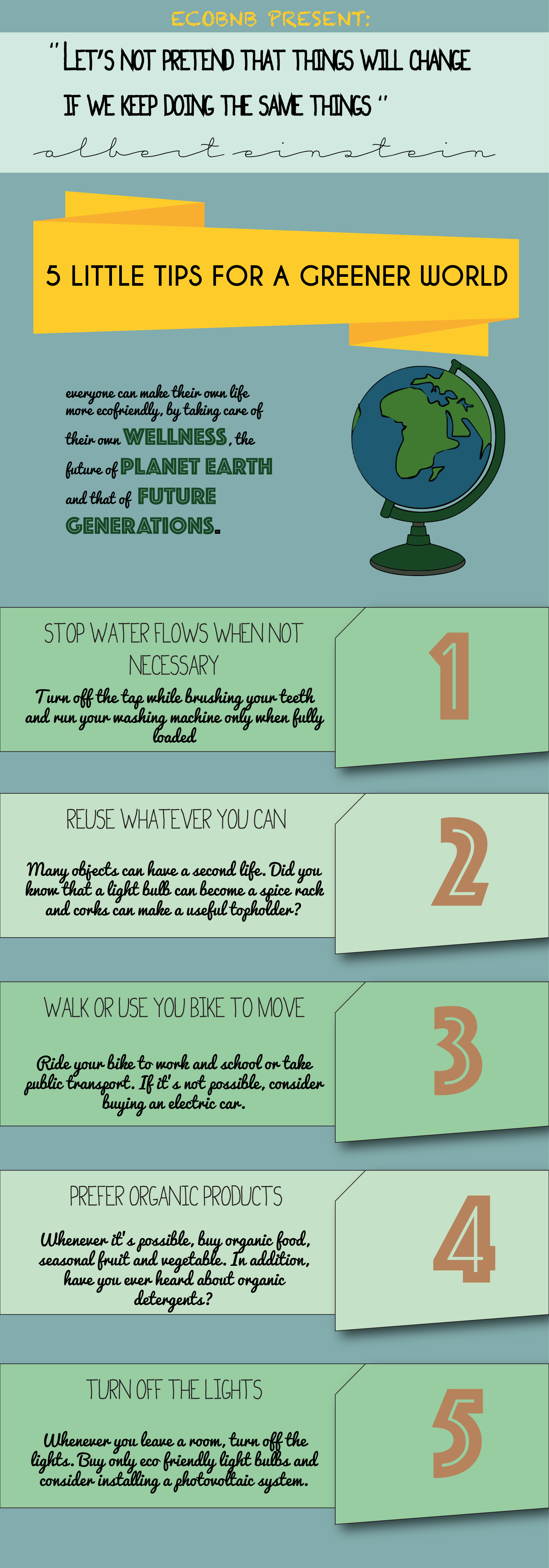infographic of our eco tips