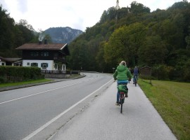 To Lake Thumsee by e-bike, photo by Silvia Ombellini