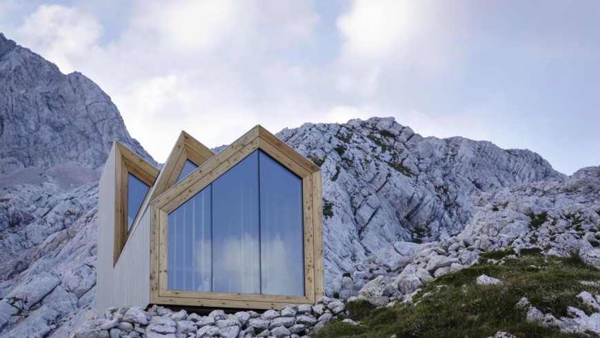 The shelter on Mount Skota is one of the most beautiful eco-friendly shelters of the world