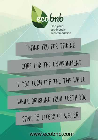 A message to share green practices