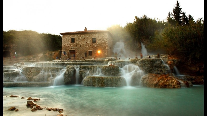 Natural hot springs in Tuscany