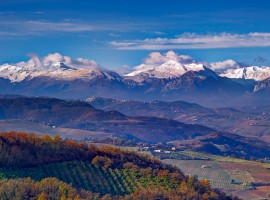 Landscape from Montalto nelle Marche, Italy