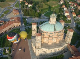 Aerial view of Mondovì, famous for its baroque architecture