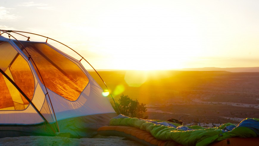 Tent in the nature - the important thing about the location is that it needs to be eco-fiendly