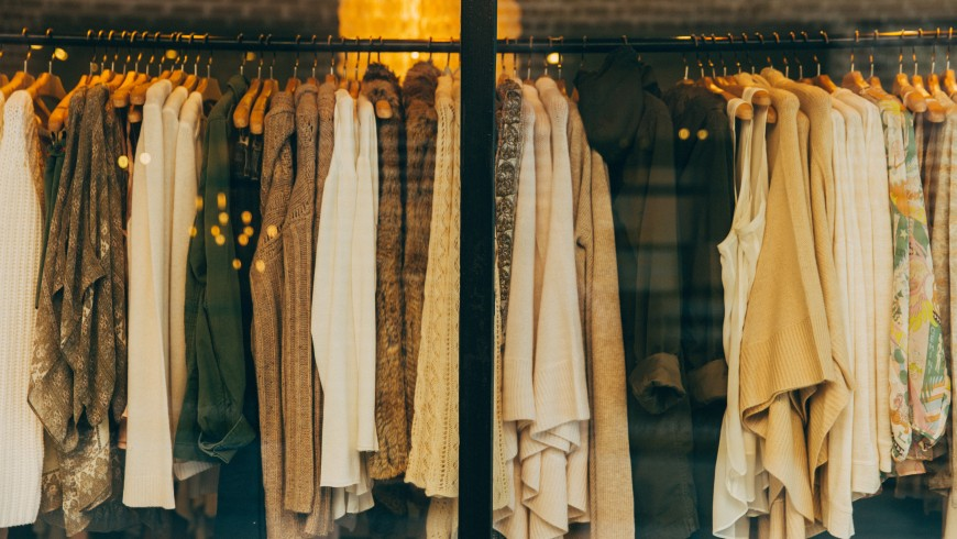 Items of clothing, photo by Hannah Morgan via Unsplash