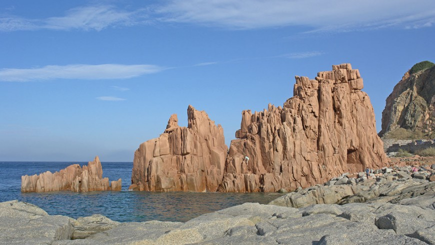 Red rocks of Arbatax, photo by Wikimedia Commons