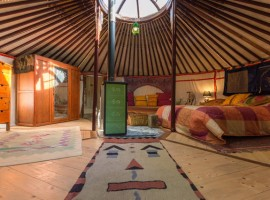 Weekend in a yurt with view of Turin