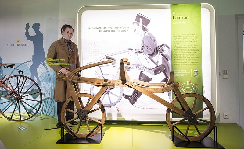 A representation of the laufmaschine among the Stadtmuseum in Karlsruhe, Germany.