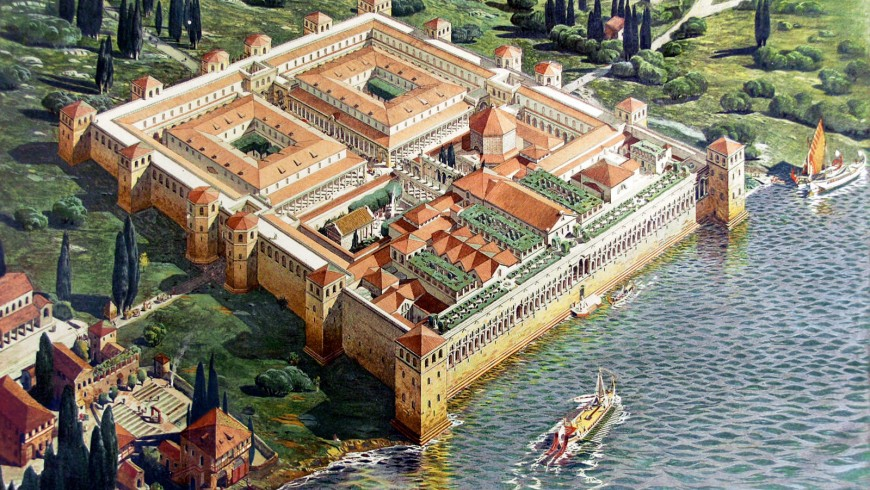 Reconstruction of the original appearance of Diocletian's Palace in 305 A.D., by Ernest Hébrard