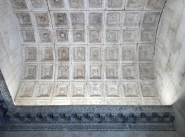 Admire the ceiling of Diocletian's Mausoleum